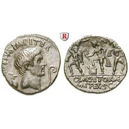 Römische Republik, Sextus Pompeius Magnus, Denar 42-40 v.Chr., vz+
