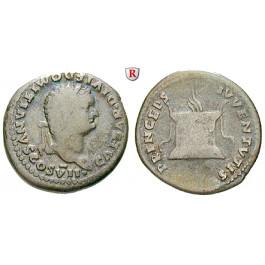 Römische Kaiserzeit, Domitianus, Caesar, Denar 80, ss