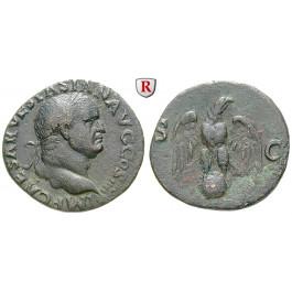 Römische Kaiserzeit, Vespasianus, As 72, ss-vz