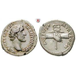 Römische Kaiserzeit, Antoninus Pius, Denar 139, vz