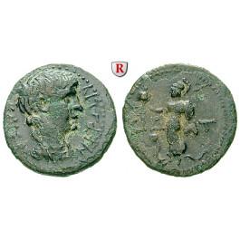 Römische Provinzialprägungen, Pamphylien, Side, Nero, Bronze, ss-vz
