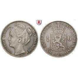 Niederlande, Königreich, Wilhelmina I., Gulden 1906, ss