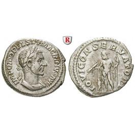 Römische Kaiserzeit, Macrinus, Denar, ss+