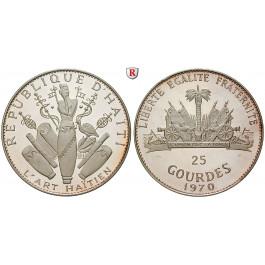 Haiti, 25 Gourdes 1968, 117,48 g fein, PP