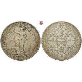 Grossbritannien, Handelsmünzen, Dollar 1911, ss+