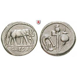 Römische Republik, Caius Iulius Caesar, Denar 49-48 v.Chr., ss