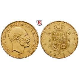 Braunschweig, Königreich Hannover, Ernst August, 10 Taler 1847, ss-vz