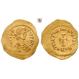 Byzanz, Mauricius Tiberius, Tremissis 582-602, vz+