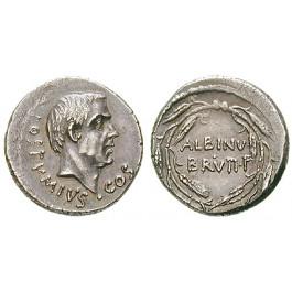 Römische Republik, D. Iunius Brutus Albinus, Denar 48 v.Chr., vz