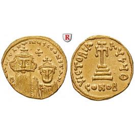 Byzanz, Constans II. und Constantinus IV., Solidus 654-659, f.vz
