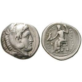 Makedonien, Königreich, Alexander III. der Grosse, Tetradrachme 322-320 v.Chr., ss