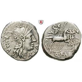 Römische Republik, Q. Fabius Labeo, Denar 124 v.Chr., ss+