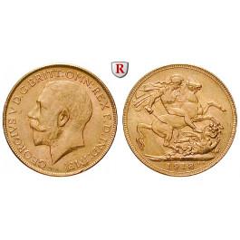 Indien, Britisch-Indien, George V., Pound 1918, 7,32 g fein, vz