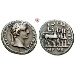 Römische Kaiserzeit, Tiberius, Denar 15-17, ss