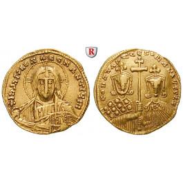 Byzanz, Constantinus VII. und Romanus II., Solidus 950-955, ss+