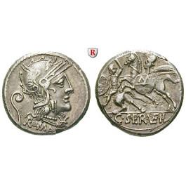 Römische Republik, C. Servilius Vatia, Denar 127 v.Chr., ss-vz