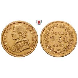 Vatikan, Pius IX., 2 1/2 Scudi 1858, 3,89 g fein, vz