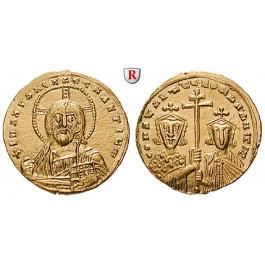 Byzanz, Constantinus VII. und Romanus II., Solidus 950-955, vz-st