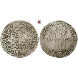 Braunschweig, Braunschweig-Wolfenbüttel, Julius, 1/2 Taler 1587, ss