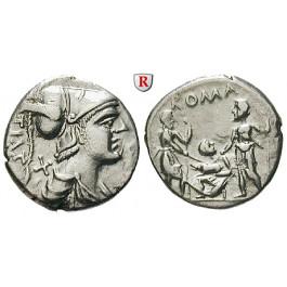 Römische Republik, Ti. Veturius, Denar 137 v.Chr., ss-vz