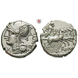 Römische Republik, M. Baebius Tampilus, Denar, vz