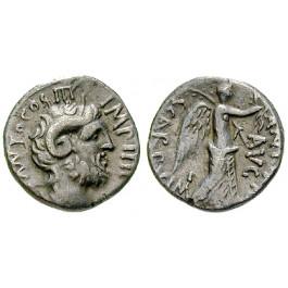 Römische Republik, Marcus Antonius, Denar 31 v.Chr., ss+