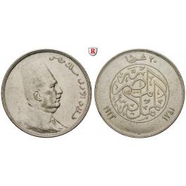 Ägypten, Fuad, 50 Piaster 1923, ss+