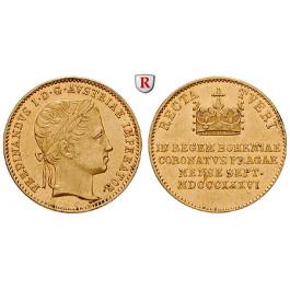 Österreich, Kaiserreich, Ferdinand I., Dukat 1836, 3,44 g fein, ss-vz