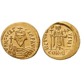 Byzanz, Phocas, Solidus 602-610, vz