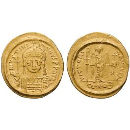 Byzanz, Justinian I., Solidus 545-565, ss-vz