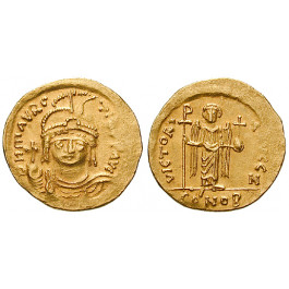 Byzanz, Mauricius Tiberius, Solidus 583-602, ss-vz