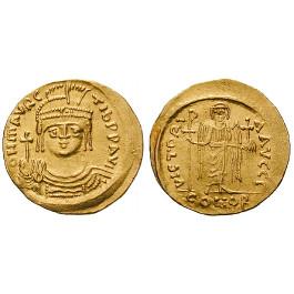 Byzanz, Mauricius Tiberius, Solidus 583-602, vz/ss-vz