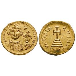 Byzanz, Heraclius und Heraclius Constantinus, Solidus 610-615, f.vz