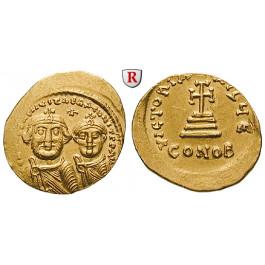 Byzanz, Heraclius und Heraclius Constantinus, Solidus 625-629, f.vz
