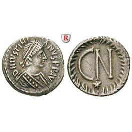 Byzanz, Justinian I., 1/2 Siliqua (250 Nummi) 552-565, ss-vz