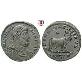 Römische Kaiserzeit, Julianus II., Bronze 361-363, vz-st