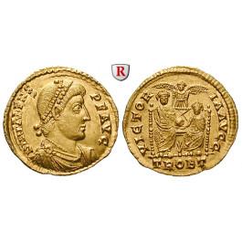 Römische Kaiserzeit, Valens, Solidus 373-375, vz-st