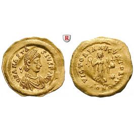 Byzanz, Anastasius I., Tremissis, vz/ss-vz