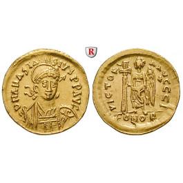 Byzanz, Anastasius I., Solidus 491-498, vz