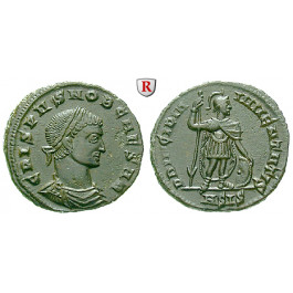 Römische Kaiserzeit, Crispus, Caesar, Follis 317, vz-st