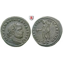 Römische Kaiserzeit, Maximianus Herculius, Follis 297-299, vz+