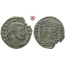 Römische Kaiserzeit, Maxentius, Follis 307, vz+