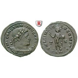 Römische Kaiserzeit, Constantinus I., Follis 310, vz+