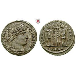 Römische Kaiserzeit, Constantinus I., Follis 333-335, vz+