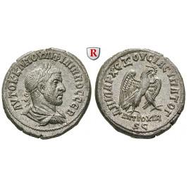 Römische Provinzialprägungen, Seleukis und Pieria, Antiocheia am Orontes, Philippus I., Tetradrachme 247, vz-st