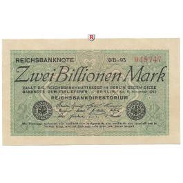 Inflation 1919-1924, 2 Bill Mark 05.11.1923, I-, Rb. 132a