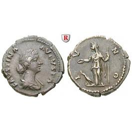 Römische Kaiserzeit, Faustina II., Frau des Marcus Aurelius, Denar vor 175, ss+