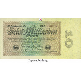 Inflation 1919-1924, 10 Md Mark 15.09.1923, III, Rb. 113a