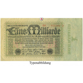Inflation 1919-1924, 1 Md Mark 05.09.1923, II-, Rb. 111a