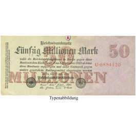 Inflation 1919-1924, 50 Mio Mark 25.07.1923, I-, Rb. 97a